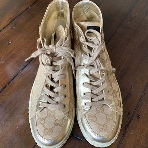 Gucci Monogram High Top Sneakers Size 38